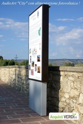 """AudioART """"City"""" - Audio Cultura  - Riduzione dei Consumi, Risparmio Elettrico, Arredi, Arredo Urbano, Per il GPP, Per l'Azienda"""