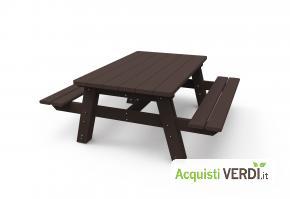 Tavolo da pic-nic con panche in plastica riciclata - Green Projects - Per gli Alberghi, Arredi, Arredo Urbano, Per il GPP, Per l'Azienda, Per la Scuola