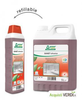 SANET alkastar - Detergente alcalino per sanitari - Werner & Mertz Professional - Eco Ristorazione, Pulizia e Igiene, Superfici (pulizia professionale), Per gli Alberghi, Eventi Sostenibili, Per il GPP, Per l'Azienda, Per la Scuola