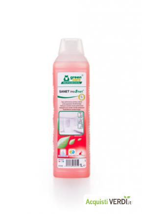 SANET inoSmart - detergente per sanitari - Werner & Mertz Professional - Eco Ristorazione, Pulizia e Igiene, Superfici (pulizia professionale), Per gli Alberghi, Eventi Sostenibili, Per il GPP, Per l'Azienda