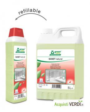 SANET natural - Detergente per sanitari all'aceto - Werner & Mertz Professional - Eco Ristorazione, Pulizia e Igiene, Superfici (pulizia professionale), Per gli Alberghi, Eventi Sostenibili, Per il GPP, Per l'Azienda, Per la Scuola