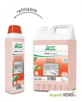 SANET perfect - Detergente disincrostante per sanitari - Werner & Mertz Professional - Eco Ristorazione, Pulizia e Igiene, Superfici (pulizia professionale), Per gli Alberghi, Eventi Sostenibili, Per il GPP, Per l'Azienda, Per la Scuola